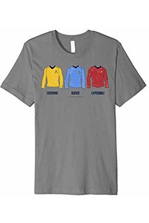 Star Trek Divisions of Rank Crew Shirt Graphic T-Shirt