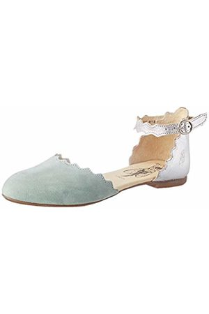 Fly London Women's MEGS210FLY Ankle Strap Ballet Flats, (Jade / 009)