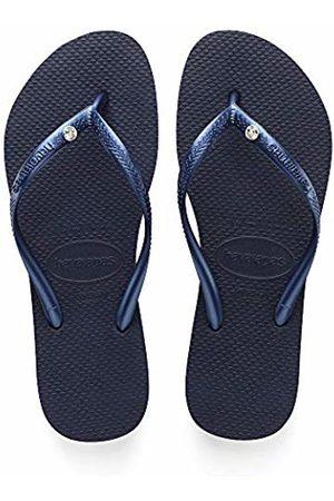 Havaianas Slim Crystal Glamour Sw, Women's Flip Flops, (Blau 0555)