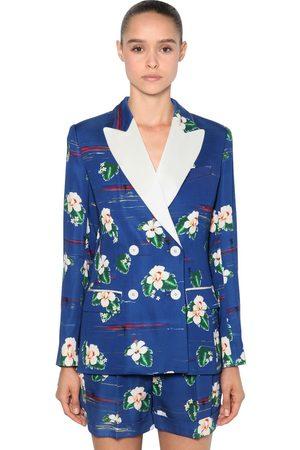 RACIL Women Summer Jackets - Double Breasted Viscose Cady Blazer