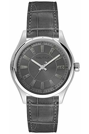 Nautica Mens Analogue Quartz Watch with Leather Strap NAPBST001