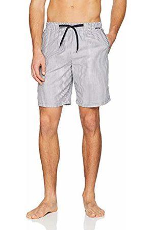 Skiny Men's Sloungewear Hose Kurz Pyjama Bottoms, (Crown Stripe)