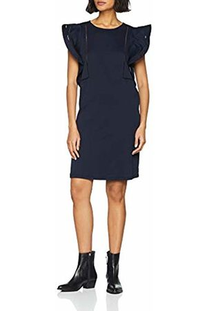 Scotch&Soda Maison Women's Jersey Dress with Woven Ruffles