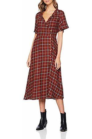 Springfield Women's Fq.Vestido Midi Cuadro Dress