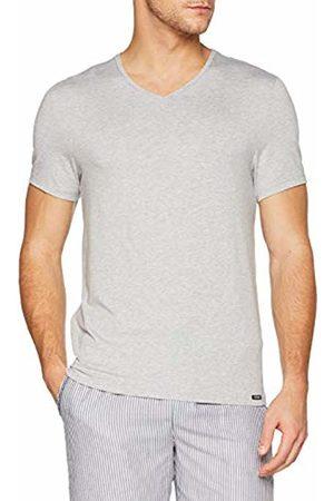 Skiny Men's Sloungewear V-Shirt Kurzarm Pyjama Top, (Stone Melange)