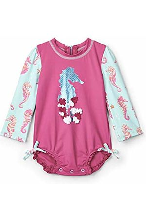 Hatley Baby Girls' Rash Guard Swimsuits (Fantastical Seahorses)