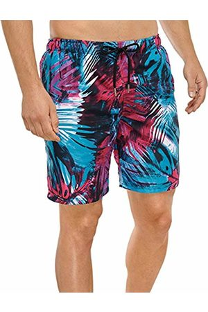 Schiesser Men's Swimshorts Swim Shorts, Multicoloured-Mehrfarbig (Multicolor 1 904)