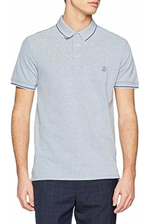 Selected Homme Men's Slhtwist Ss Polo W Noos Shirt, ( Horizon Detail:Twisted with Egret)