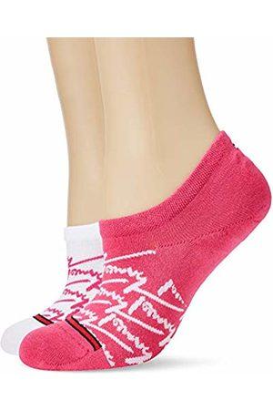 Tommy Hilfiger Men's THJ Unisex AOP Footie 2P Ankle Socks