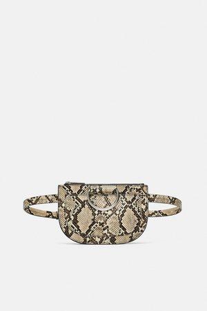 Zara Snakeskin print belt bag