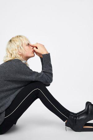 Zara LEGGINGS WITH SHIMMERY TAPING
