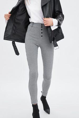 Zara HIGH WAIST LEGGINGS WITH BUTTONS