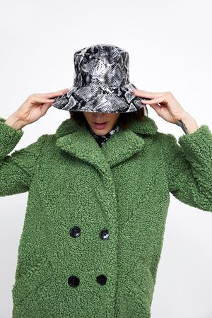 Zara Leopard print rain hat