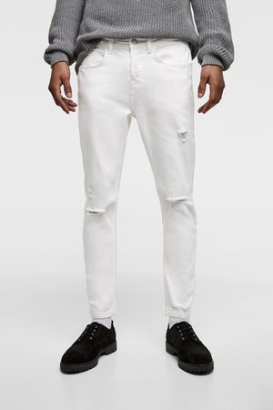 Zara Raw edge ripped jeans