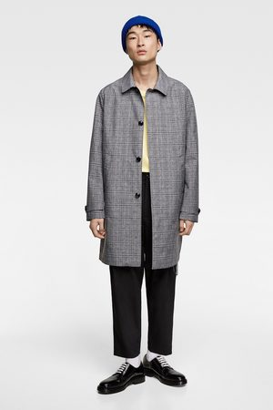 Zara Checked trench coat