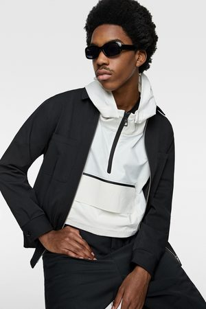 Zara Pouch pocket parka with reflective bands