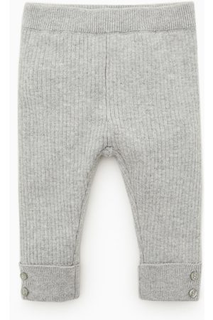 Zara Ribbed leggings with buttons