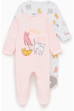 Zara 2-pack of kitten print sleepsuits
