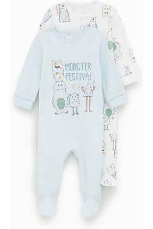 Zara 2-pack of monster print sleepsuits