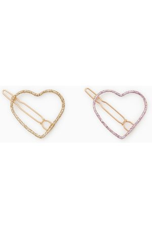 Zara Pack of two heart hair clips
