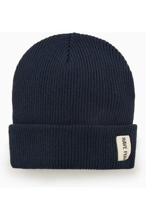 Zara Knit hat with label detail