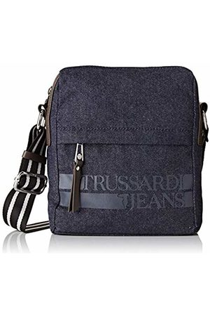 Trussardi Jeans Turati Denim Reporter Denim, Men's Messenger Bag, 19x22