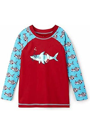Hatley Boy's Long Sleeve Rash Guards Swimsuit, (Snorkeling Shark)