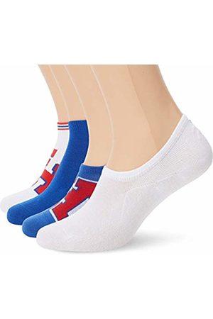 Tommy Hilfiger Men's Th Unisex Sneaker Box 4p Calf Socks