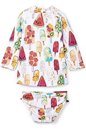 Hatley Girl's Rash Guard Sets Swimwear, (Fruity Popsicles)