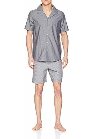 Seidensticker Men's Chambray Pyjama Kurz Set