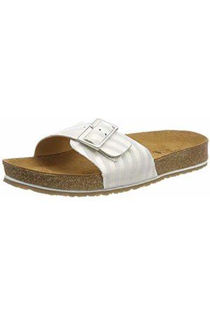 Haflinger Women's Gina T-Bar Sandals, (Weiß 2115)