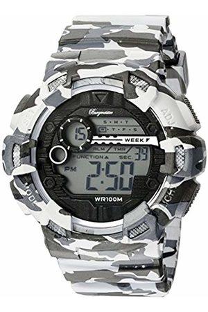 Burgmeister Men's Quartz Watch with LCD Dial Digital Display and Plastic Bracelet BM803-020