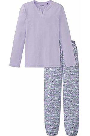 Schiesser Girl's Mädchen Anzug Lang Pyjama Sets Blau (Lavendel 809) 14 Years