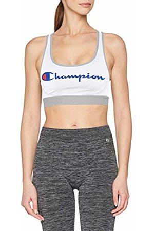 Champion Women's The The Absolute Workout Sports Bra (Blanc Logo Vert 8mp) Small