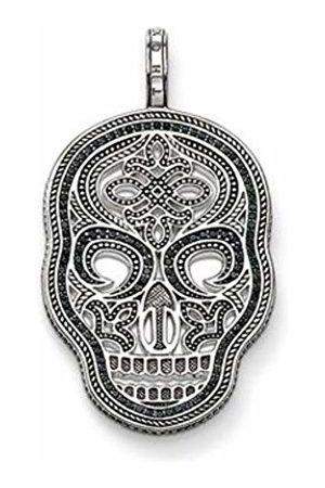Thomas Sabo Unisex Rebel at Heart Skull Pendant 925 Silver cubic zirconia - PE665 Silver - 11