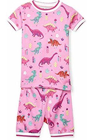 Hatley Girl's Organic Cotton Short Sleeve Printed Pyjama Sets, (Darling Dinos)
