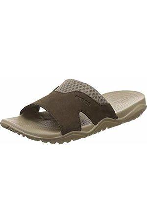 Crocs Men's Swiftwater Leather Slide Men Open Toe Sandals