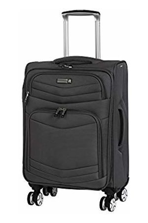 IT Luggage Intrepid 8 Wheel Lightweight Semi Expander Cabin Suitcase, 56 cm