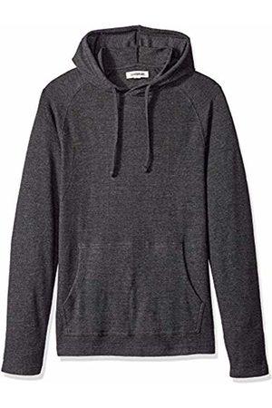 Goodthreads Men's Long-sleeve Slub Thermal Pullover Hoodie T-Shirt, (heather charcoal)