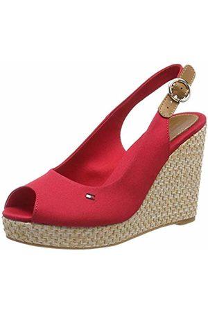 Tommy Hilfiger Women's Iconic Elena Basic Sling Back Sandals, (Tango 611)