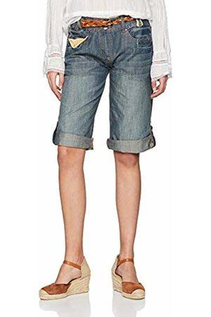 Joe Browns Women's Beautiful Belted Shorts (A - Denim A) W34 (Size:16)