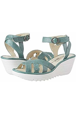 Fly London Women's YRAT021FLY Ankle Strap Sandals, (Jade 009)