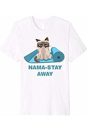Grumpy Cat Nama-Stay Away No Yoga Graphic T-Shirt
