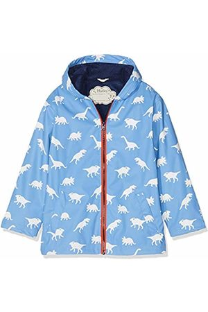 Hatley Boy's Splash Jackets Raincoat, (Colour Changing Silhouette Dinos)