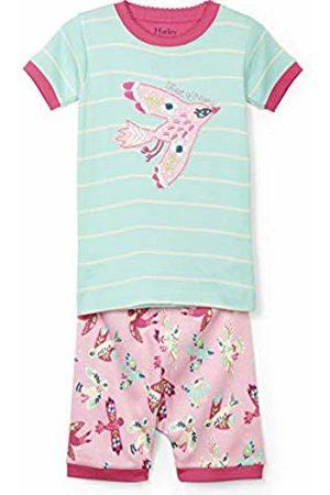 Hatley Girl's Organic Cotton Short Sleeve Printed Pyjama Sets, Tweet Dreams-Soaring Birdies