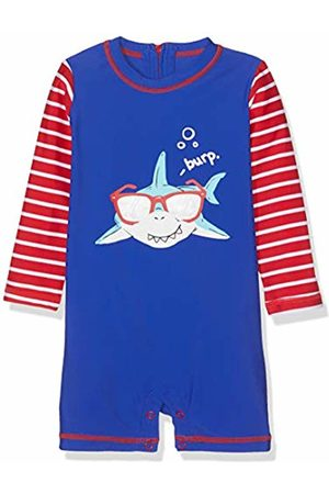 Hatley Baby Boys' Mini Rashguard One-Piece Swimsuit, (Cool Shark)