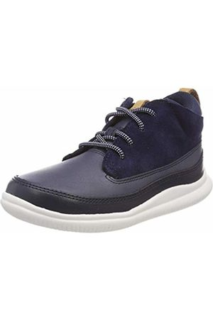 Clarks Boys' Cloud Air T Derbys, (Navy Leather-)