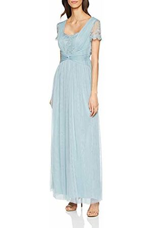 Little Mistress Women's Clarita Lace Mesh Maxi Dress Glacier