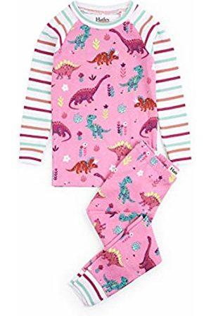 Hatley Girls Long Sleeve - Girl's Organic Cotton Long Sleeve Printed Pyjama Sets, (Darling Dinos)