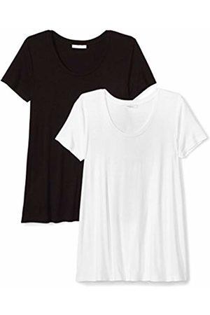 Daily Ritual Women's Jersey Short-Sleeve Scoop Neck Swing T-Shirt, 2-Pack
